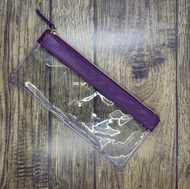 Purple Essential Oil Pouch With Gold Zipper For Roller Bottles