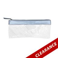 Silver Essential Oil Pouch With Silver Zipper For Roller Bottles