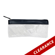 Black Essential Oil Pouch With Silver Zipper For Roller Bottles