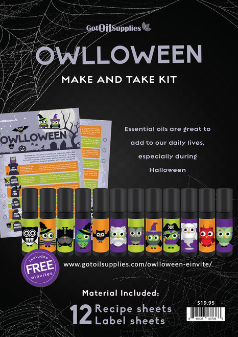 Owlloween Essential Oil Make And Take Workshop Kit For Halloween