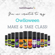 FREE Owlloween Social Media eInvite For A Make And Take Class