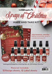 Sprays of Christmas Essential Oil Make and Take Workshop Kit for EO Classes