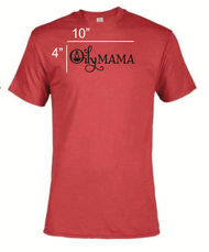 Women's Red Oily Mama Short Sleeve Essential Oil T-Shirt