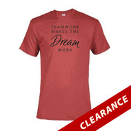 Women's Red Teamwork Make The Dream Work Short Sleeve T-Shirt