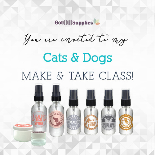 FREE Cats and Dogs Social Media eInvite For A Make And Take Class