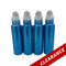 Sea Blue Glitter Essential Oil 10ml Roller Bottles With Stainless Steel Metal Roll On Inserts