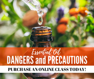 Essential Oil Dangers and Precautions Class | Compliant Social Media Downloadable Workshop