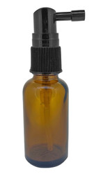 30 ml Glass Amber Essential Oil Bottles includes Throat Spray Caps