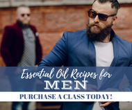 Essential Oil Recipes For Men Class | Compliant Social Media Downloadable Workshop