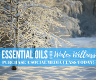 Essential Oils For Winter Wellness Class | Compliant Social Media Downloadable Workshop