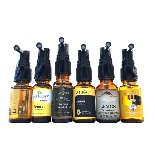 Black Throat Spray Pump Caps for doterra, plant therapy, natures oil, ameo, mountain rose herb, young living and rocky mountain Essential Oil Glass Bottles, Vials And Containers