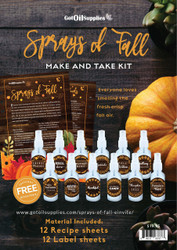 Sprays of Fall Essential Oil Make And Take Workshop Class Kit