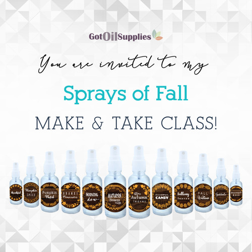 FREE Sprays of Fall Social Media eInvite For A Make And Take Class