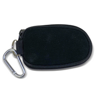 Black Keychain Essential Oil Personal Travel Bag For 2 ml Glass Bottles