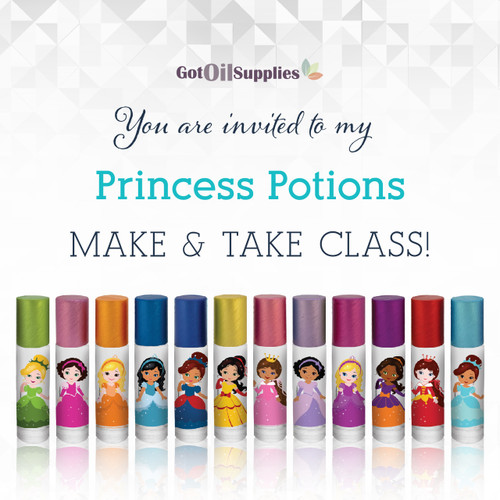 FREE Princess Potions eInvite For Social Media and Email Campaigns