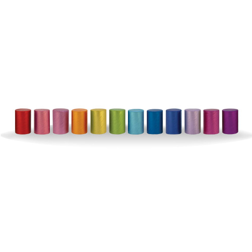 Assorted Color Brushed Aluminum Lids | Fit 10ml Essential Oil Roller Bottles