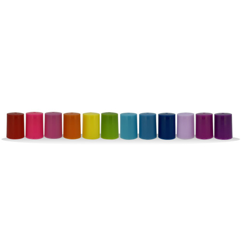 Assorted Colored Roller Bottle Lids | Designed For 10ml Essential Oil Roll On Vials
