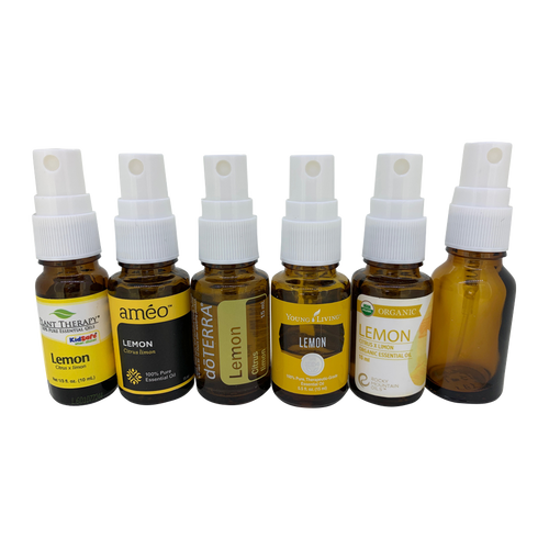 White Spray Caps for Doterra, Ameo, Plant Therapy, Young Living and Rocky Mountain Essential Oil Glass Bottles