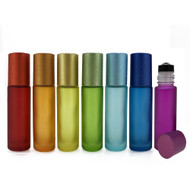 Chakra Colored 10ml Roller Bottles | Essential Oil 10 ml Roll On Containers