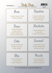 Daily Drop Collection Recipe Sheets | Essential Oil Roller Bottle Blends