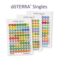 dōTERRA® Essential Oil Singles Cap Stickers | 3 Sheet Assortment