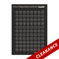 Emoji Outline Lid Stickers | Essential Oil Cap Labels