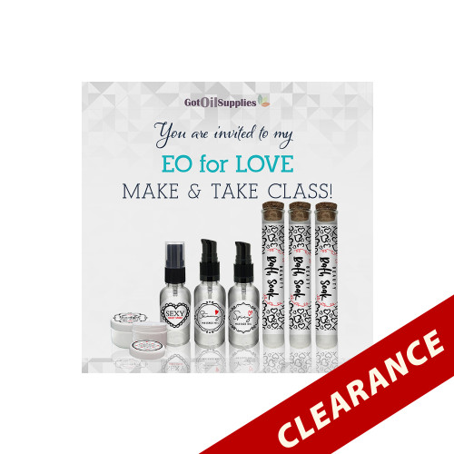 FREE Essential Oils For Love eInvite For Social Media and Email Campaigns