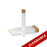 50ml Clear Glass Tubes With Corks | Essential Oil Vials For Salt
