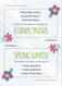 Downloadable Sprays of Spring Recipe Tent Cards For Make And Take Workshop Classes