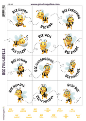 Bee You Labels | Essential Oil Proof Label and Lid Stickers