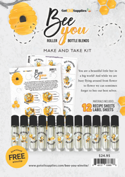 Bee You Make & Take Kit | 12 Essential Oil Label and Recipe Sheets
