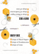 Downloadable Bee You Recipe Tent Cards For Make And Take Workshop Classes