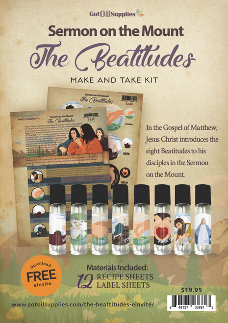 Sermon On The Mount | The Beatitudes | Essential Oil Make & Take Kit For The Bible