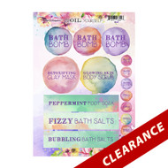 spOIL Yourself Labels | Essential Oil Label Sheet For Bath Bombs, Foot Soaks, Body Scrubs & Clay Masks