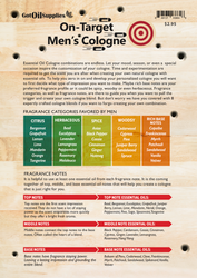 On Target Men's Cologne Recipe Sheets | EO Fragrances For Men