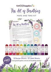 Aroma Inhalers Essential Oil Make and Take Kit | The Art of Breathing Aromatherapy Collection