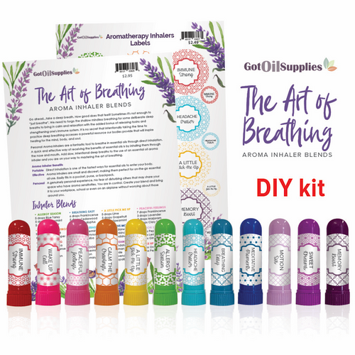 Aroma Inhalers DIY Kit | Essential Oil Do It Yourself Kit For Aromatherapy