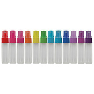 10ml Frosted Roller Bottles With Color Spray Tops | Essential Oil Sprayers