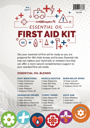 Essential Oil First Aid Kit Recipe Sheets | Developed By A Certified Aromatherapist