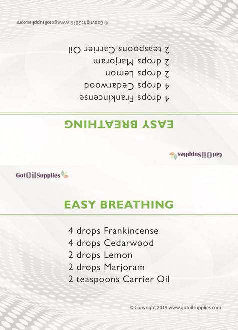 Essential Oil First Aid Kit Recipe Tent Cards | Digital Download