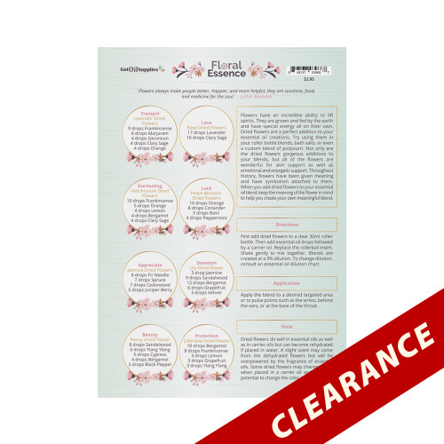Floral Essence Essential Oil Recipe Sheets