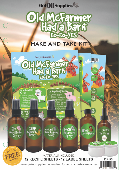 Barn Animal Make and Take Kit | Old McFarmer Had A Farm Essential Oil Collection