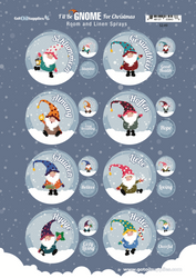 I'll Be Gnome For Christmas Essential Oil Labels