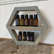 Grey Hexagon dōTERRA® Essential Oil Shelf