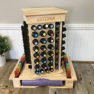 dōTERRA® Rotating Wooden Essential Oil Display Rack