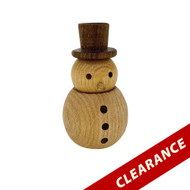 Wooden Snowman Essential Oil Diffuser