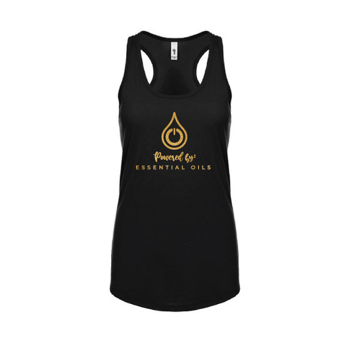 Black Powered by Essential Oils Tank Top For Women
