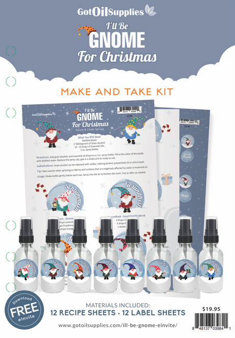 I'll Be Gnome For Christmas Make and Take Kit | Holiday Room and Linen Sprays