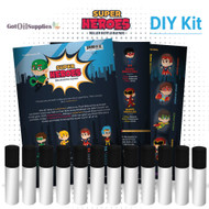 Super Heroes Roller Bottle Blend DIY Kit For Boys