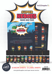 Super Heroes Roller Bottle Blend Make and Take Essential Oil Kit For Boys